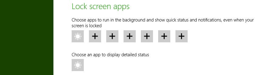 Set lock screen apps