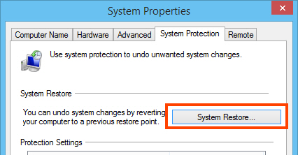 Restore a restore point in Windows 7 and 8