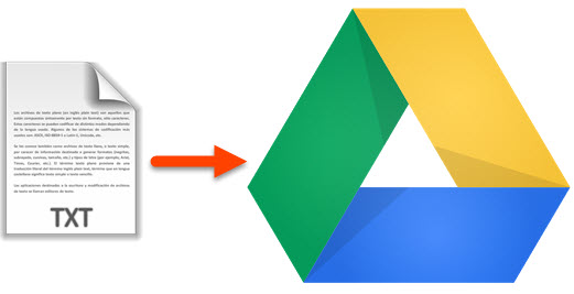 Manage text file in Google Drive