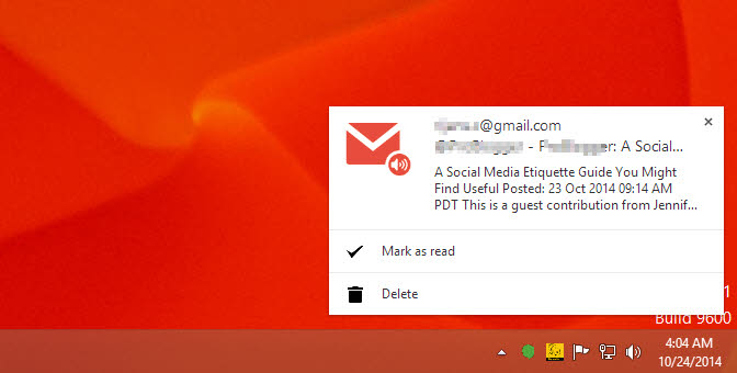 Get Pop-Up and Audio Notifications for Gmail on Desktop using Chrome