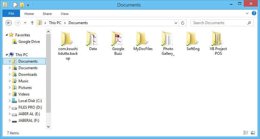 Set Google Drive your Default Documents Folder on Windows 8 and 10