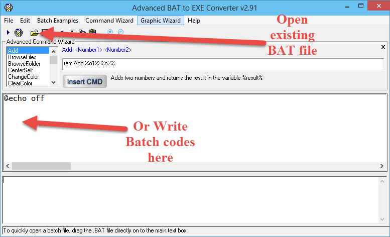 How write a batch file