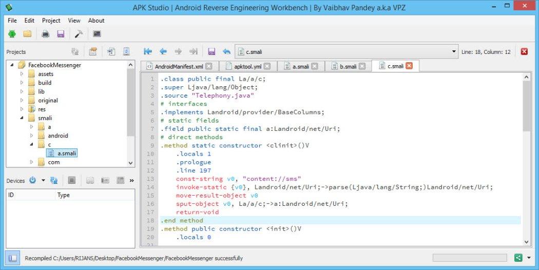 APK Studio on Windows