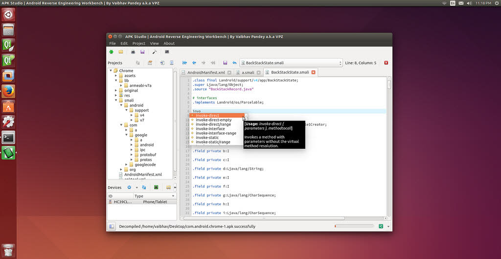 APK Studio for Ubuntu Linux