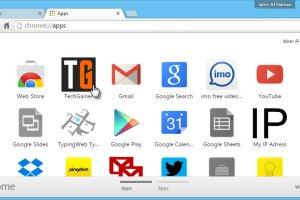 Chrome apps tab