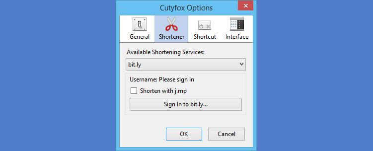 Cutyfox addon options