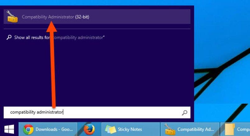 Search and run Compatibility administrator