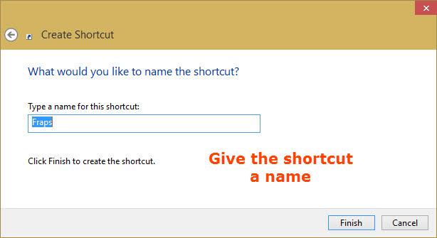 Set Shortcut name