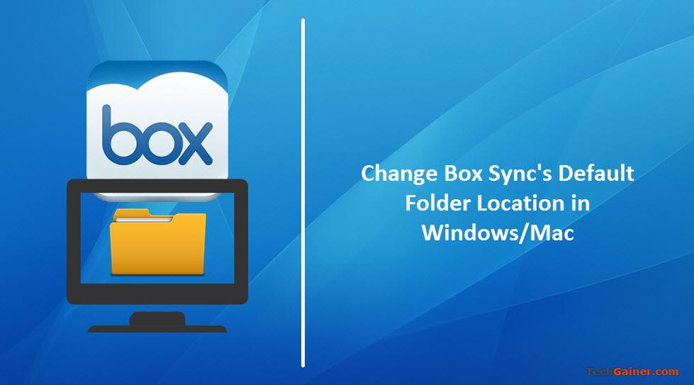 Change Box default sync folder