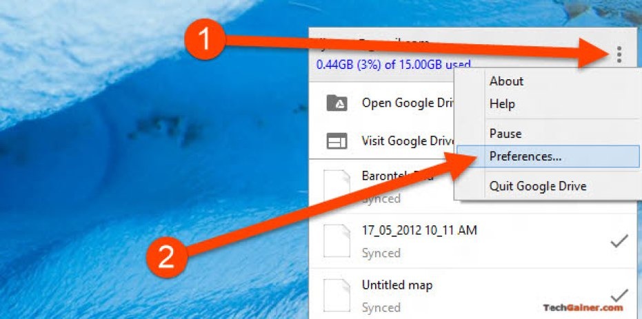 Google Drive Preference