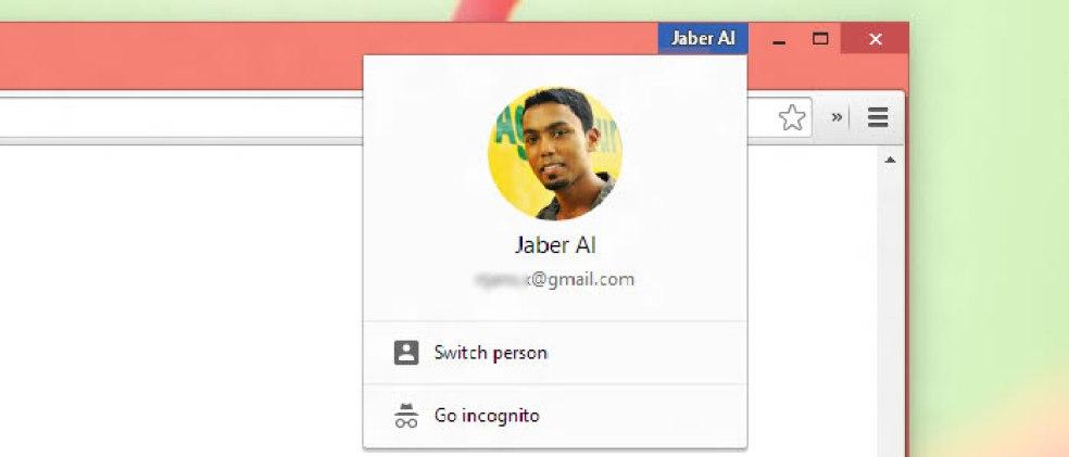 Chrome Profile Menu