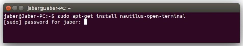 Install Nautilus Open in Terminal