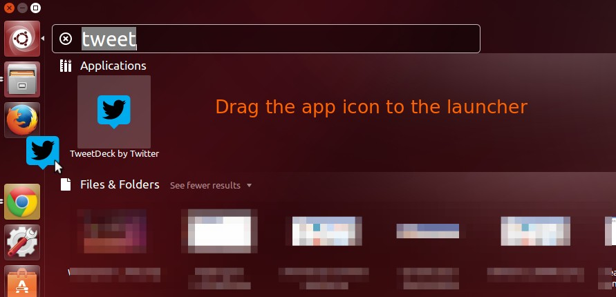 Drap app icon from dash to launcher