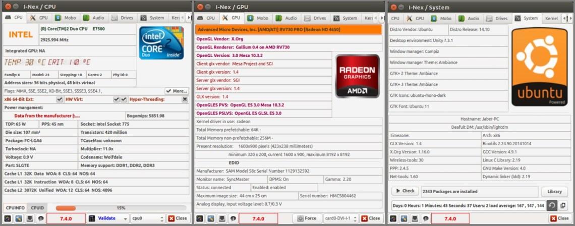 I-Nex on Ubuntu Linux