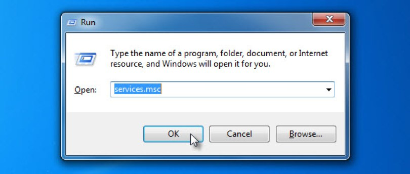 Open Windows Serivces