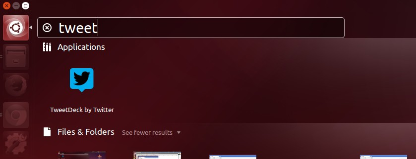 TweetDeck in Ubuntu Unity Dash