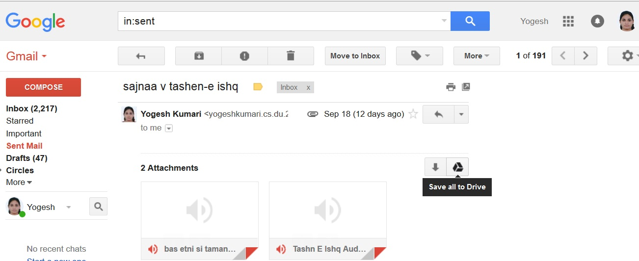 Steps To Save Gmail Attachments Directly To Google Drive