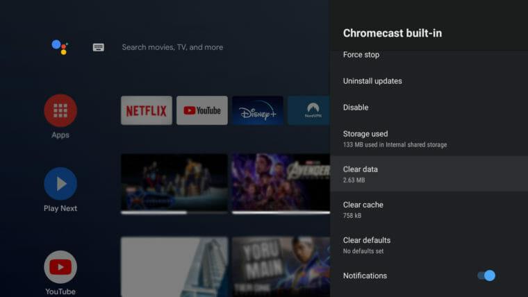 Disney-Plus-Not-Working-on-Chromecast-device toshiba clear cache