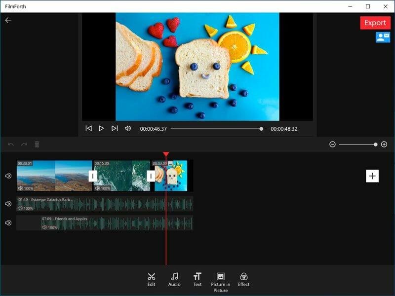 Alternativa de FilmForth Windows Movie Maker