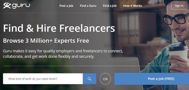 Guru online jobs site