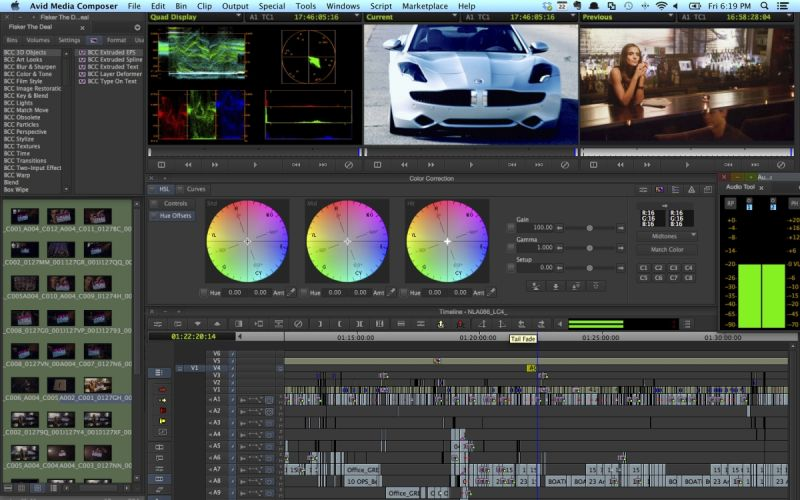 Interface Composer Media Avid