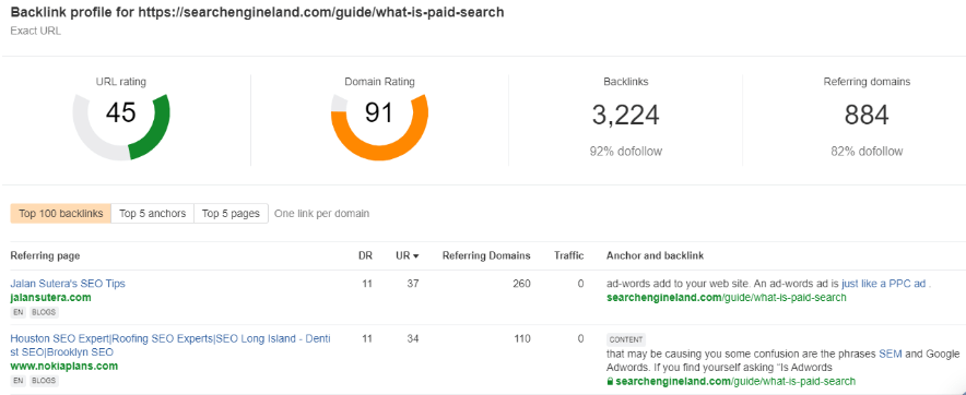 backlink profile searchengineland