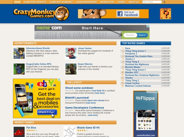 crazy monkey games Best flash game sites