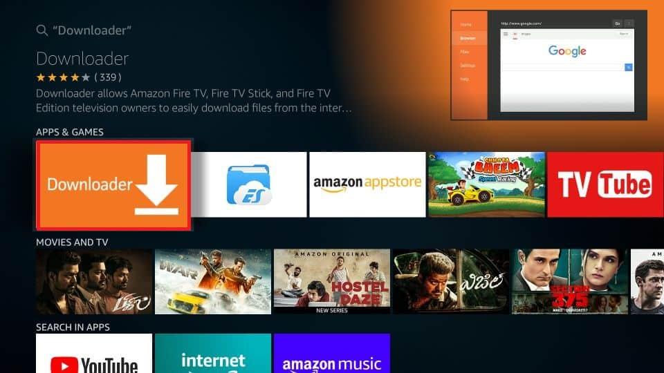 downloader on firestick to download freeflix tv apk