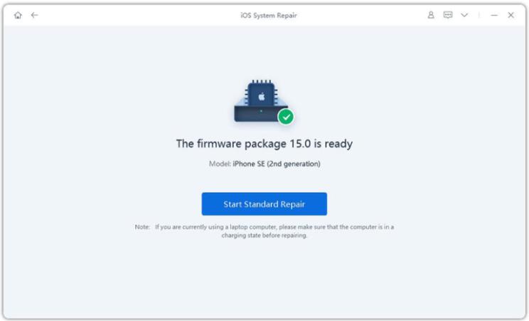 El paquete de firmware está listo