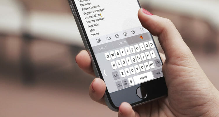 iPhone keyboard not working