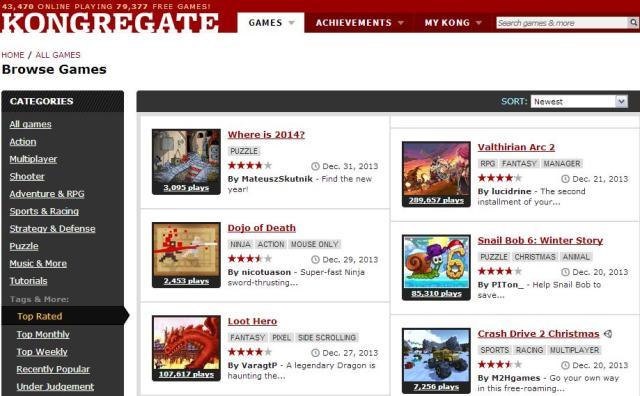 kongregate Best flash game sites