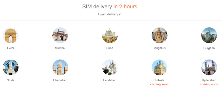 sim card delivery cities