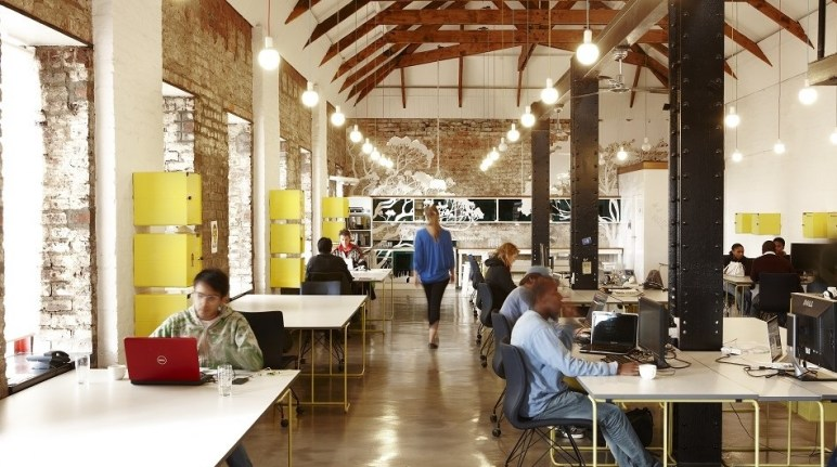 A co-working space