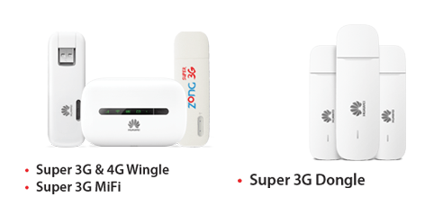 zong device packages 3g 4g wingles dongles