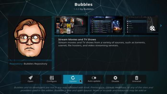 How to Install Bubbles on Kodi 17 Krypton