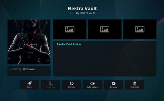 Elektra Vault Kodi Addon - Install J