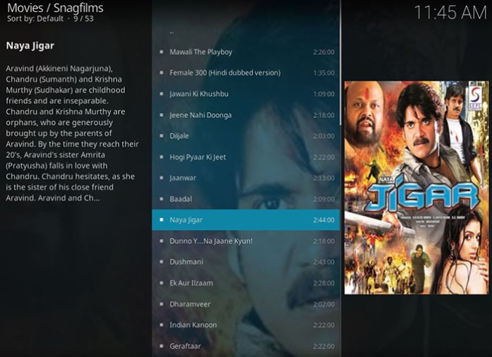 Best Kodi Bollywood Addons - SnagFilms 2