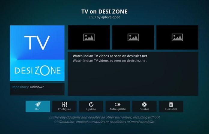 Best Kodi Bollywood Addons - TV on DESI ZONE 1