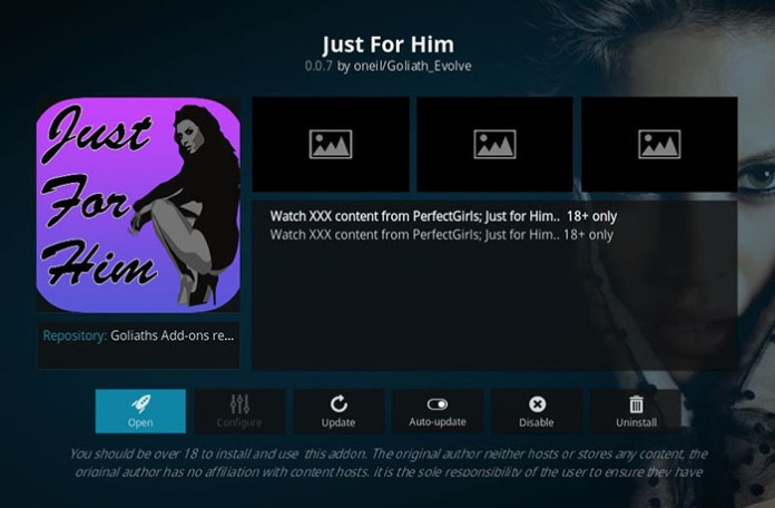 Adult Addons for Kodi - JustForHim