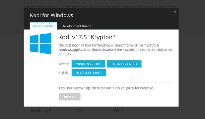 Install Kodi 17.5 on Windows - Kodi 3