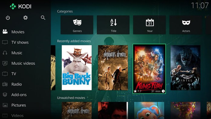 Setup Kodi on Xbox - Kodi Screen