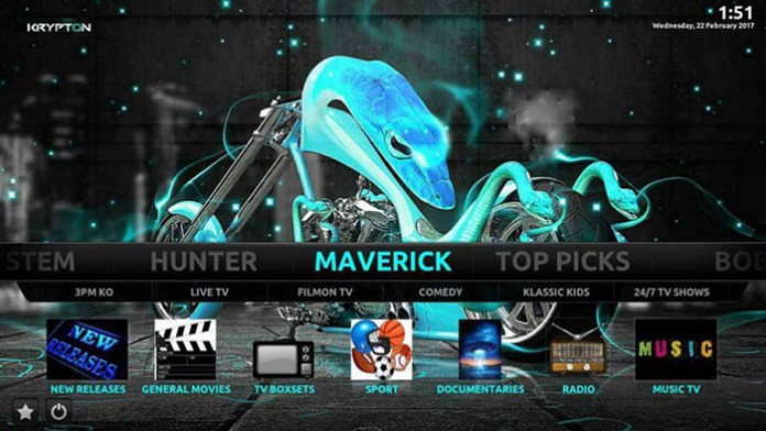 Best Kodi Builds - Maverick Build