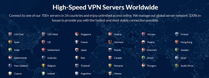 SaferVPN Review Server Locations