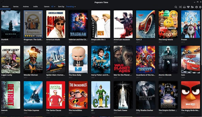 Popcorn Time - Free Movie Streaming Sites and Application