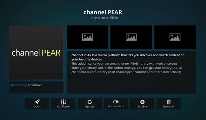 Channel Pear Super Bowl Kodi Addon