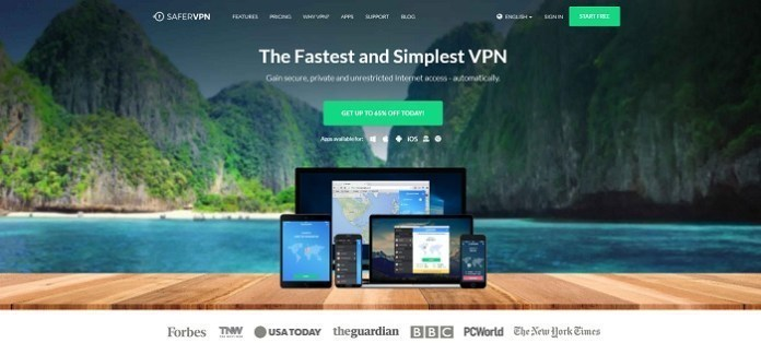 SaferVPN PlayStation Vue