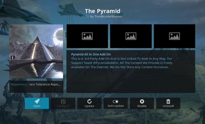 The Pyramid 4K Kodi Addon