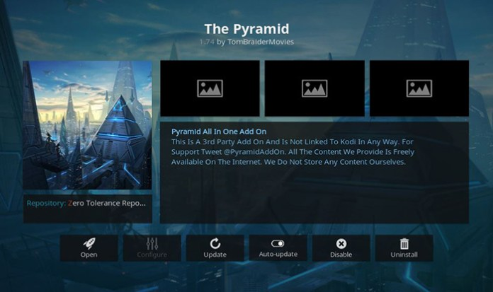 The Pyramid Addon for Kodi