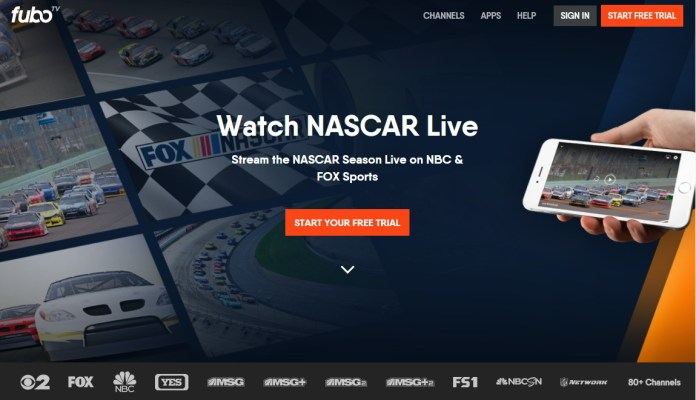All the Nascar races will either air on two of the Fox Channels – Fox and Fox  Sports 1 (FS1). The races are available on Fox Live TV or go to Fox Sports  Go ...