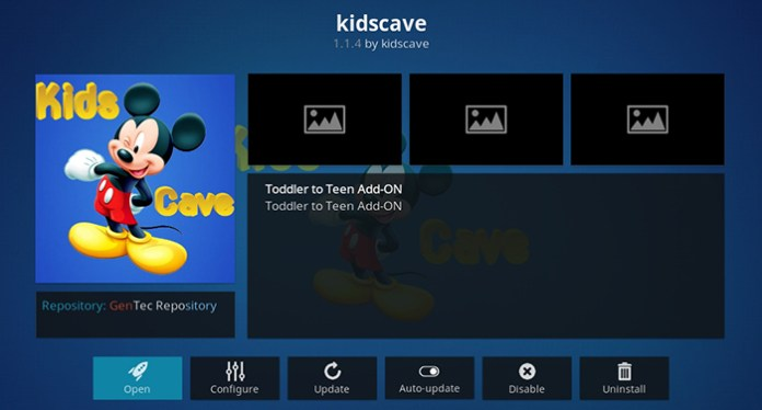 Kids Cave Kodi Addon